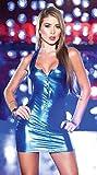 Conjuntos De Pijamas Y Batas Eróticos para Mujer Disfraces Eróticos para Mujer Traje De Escenario con Cremallera De Charol Lencería-Blue_One Size