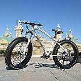 Nieve Bicicletas Crucero de la Playa Gordo Grande de neumáticos de Bicicletas La absorción de Doble Choque 24/26 Pulgadas 4.0 Ancho de la Rueda Fat Tire MTB Adultos de la Bicicleta,A,26 Inch 27 Speed