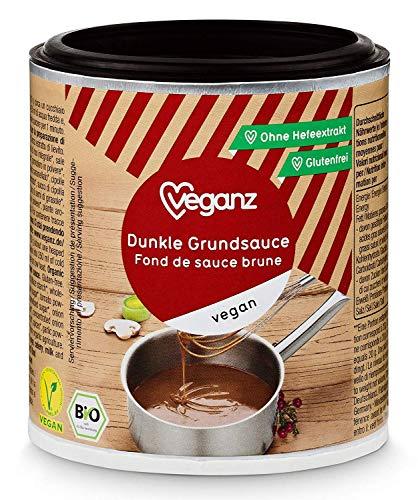 Veganz BIO Dunkle Grundsauce - Vegane Basis Sauce für Feinschmecker Saucen Rezepte - Soße Vegan Dunkel 6 x 140g