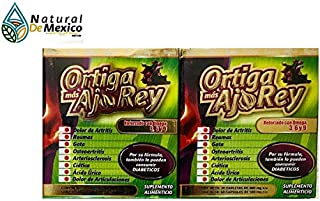 Natural de Mexico 2 Ortiga and AJO Rey with Omega 3, 5 and 9 Dietary Supplement Original