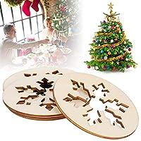 安全な木製素材を彫る30個のペンダントギフトタグ用スノーフレーク木製ペンダントクリスマスツリークラフト用品手書きタグ