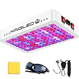 KingLED Newest 1200w LED Grow Lights with Samsung LM301B LEDs and 10x Optical Condenser 3.5x3.5ft Coverage Full Spectrum Grow Lights for Indoor Hydroponic Plants Veg Bloom Greenhouse Growing Lamps