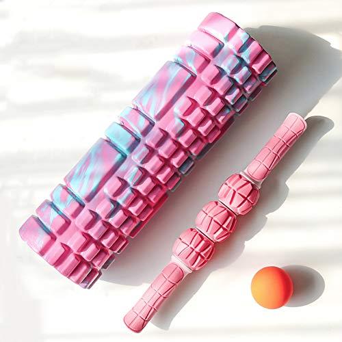 GWLTV Sport Muscle Roller Stick - Deep Tissue Massage Roller for Trigger Points, Leg Cramps, Quads, Calf & Hamstring Tightness - Myofascial Release - Best Muscle Massager Stick for Athletes,Pinkblue