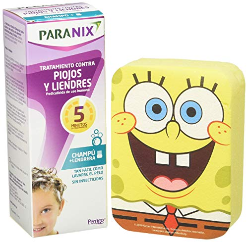 Paranix Paranix Champu Antipiojos  Pack Bob Esponja Con Regalo  Tratamiento Para Eliminar Piojos Y Liendres Sin Insecticidas, Contra Infestaciones De Piojos 250 g