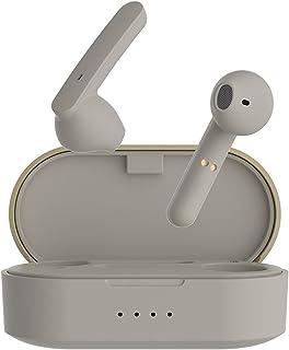 TWS 5.0 Bluetooth-öronproppar med trådlös laddningslåda, vattentät stereohögtal med inbyggt mikrofonhuvudet Beige