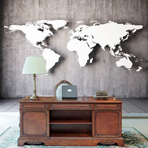 YBHNB Mural Mapa Tridimensional del Mundo Murales Grandes Fondo De Pantalla 3D Papel De Pared 3D Estilo Europeo Sofá De La Sala De Estar Fondo-150X120Cm