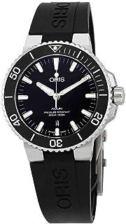bf97cec231 Oris Aquis Cadran noir automatique pour homme en caoutchouc montre 01 733  7730 4154–07