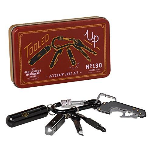 Gentleman 's Hardware Schlüsselanhänger Mini-Werkzeug-Kit–Braun