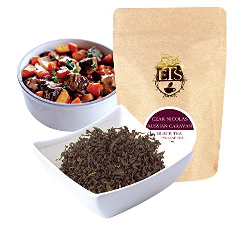 English Tea Store Loose Leaf, Czar Nicolas Russian Caravan Tea Pouches, 4 Ounce
