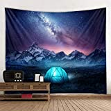AdoDecor Tent Under The Stars Tapestry Wall Hanging Decoration Living Room Bedroom Dormitory Home Decoration Tapestry 150x100CM