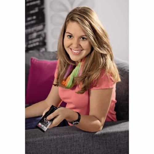Thomson TV Universalfernbedienung 4 in 1, lernfähig, mit Makros (4 Geräte steuern, vorprogrammiert für alle gängigen Marken, Fernseher, Receiver, Set Top Box, DVD, Verstärker, Ersatzfernbedienung)