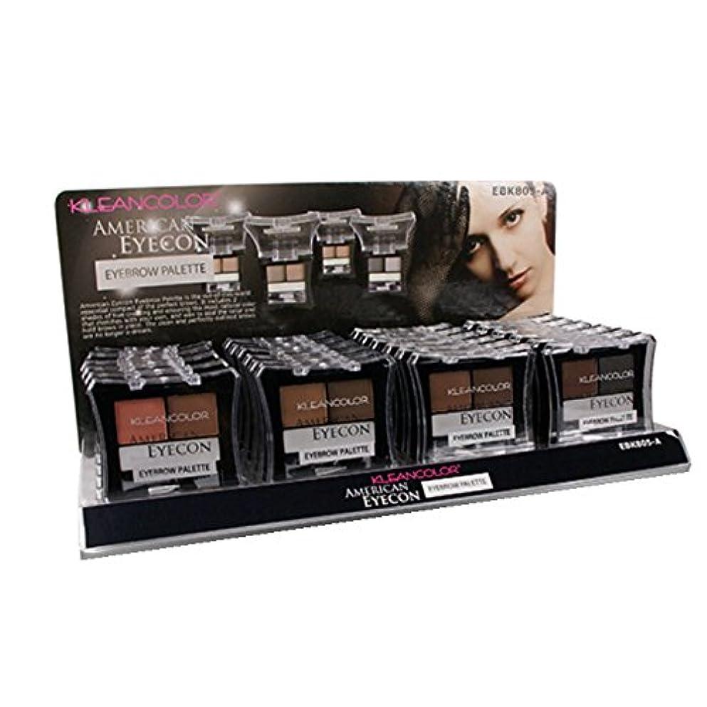 頭痛のみ文字KLEANCOLOR American Eyecon Eyebrow Palette Display Case Set 24 Pieces (並行輸入品)