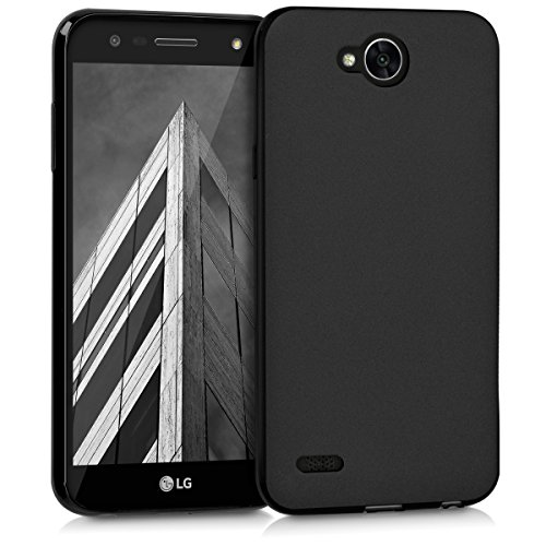 kwmobile LG X power 2 Cover - Custodia per LG X power 2 in silicone TPU - Backcover protezione nero matt