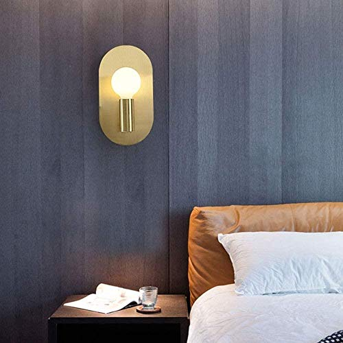 Sconce wandlamp slaapkamer nachtlampje volledige koper muur lamp Aisle badkamer spiegel koplamp warm licht LED Engineering licht 150 * 100 * 280(mm) binnenverlichting wandlampen