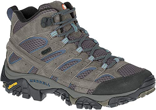Merrell Women's Moab 2 Mid Waterproof Hiking Boot, Granite, 10 W US