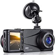 """OKEEY In Car Dash Cam Full HD 1080P Dash Camera 3.0"""" LCD Screen Dashcam for Cars Front with Night Vision Without SD Card Included - 170°Wide Angle, Loop Recording, G-sensor and Parking Monitor"""
