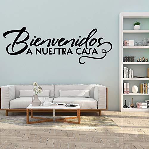 YuanMinglu Arte español Pegatinas de Pared Autoadhesivas Papel Pintado de Arte Impermeable Arte Apliques Agua Humedad 43x14cm