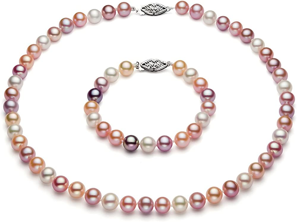 Multicolor Freshwater Cultured Pearl Set outlet AAAA Sterling Daily bargain sale Quality S