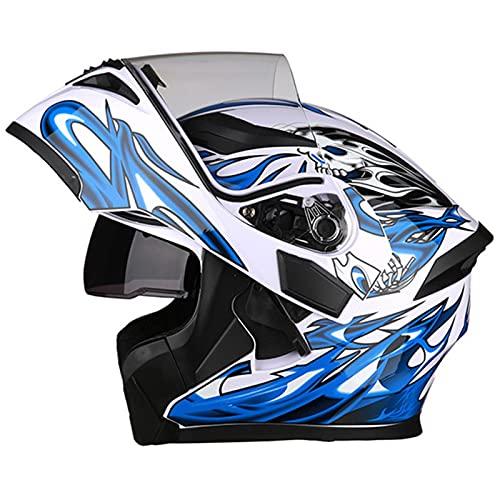 Casco Modulare Moto Omologato DOT/ECE Caschi Modulari Apribili Per Moto Casco Moto Integrale Casco Apribile Moto Con Doppia Visiera Parasole Anti-Fog Full Face Helmet N,XXXL