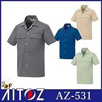 半袖シャツ カラー:006ブルー サイズ:4L