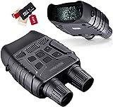 IW.HLMF Binoculares Digitales de visión Nocturna para Adultos, cámara de Caza de Gafas de visión Nocturna infrarroja, Pantalla LCD TFT de 2,31', Visor Nocturno con Tarjeta SD de 32G