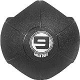 GORILLA SPORTS® Medizinball mit 2 Hand-Griffen – Gewichtsball aus Gummi Schwarz 9 kg