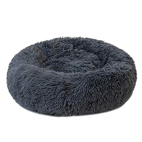 QIMO Donut Cuddler Plush Luxury Pet Bed Round Donut Cat and Dog Cushion Bed, zelfverwarmend en gezellig, voor betere slaap in de winter