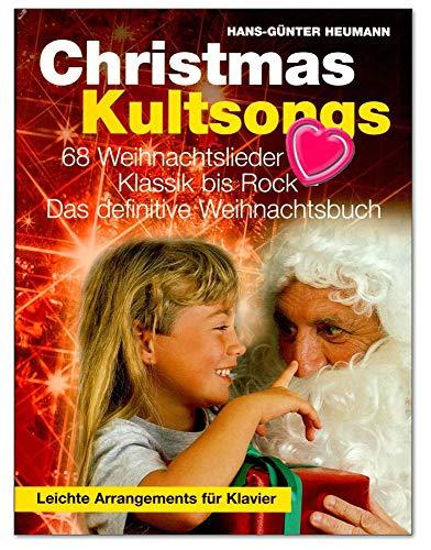 Kerst cultsongs - het absolute kerstboek voor piano, zang, gitaar van Hans-Günter Heumann - tijdloze kerstliedjes met kleurrijke hartvormige notenklem