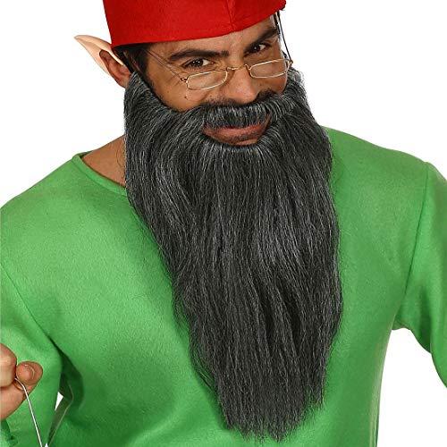 NET TOYS Langer ZZ Top Bart mit Schnurrbart - Grau - Außergewöhnliches Party-Accessoire Rocker - Bestens geeignet für Fasching & Karneval