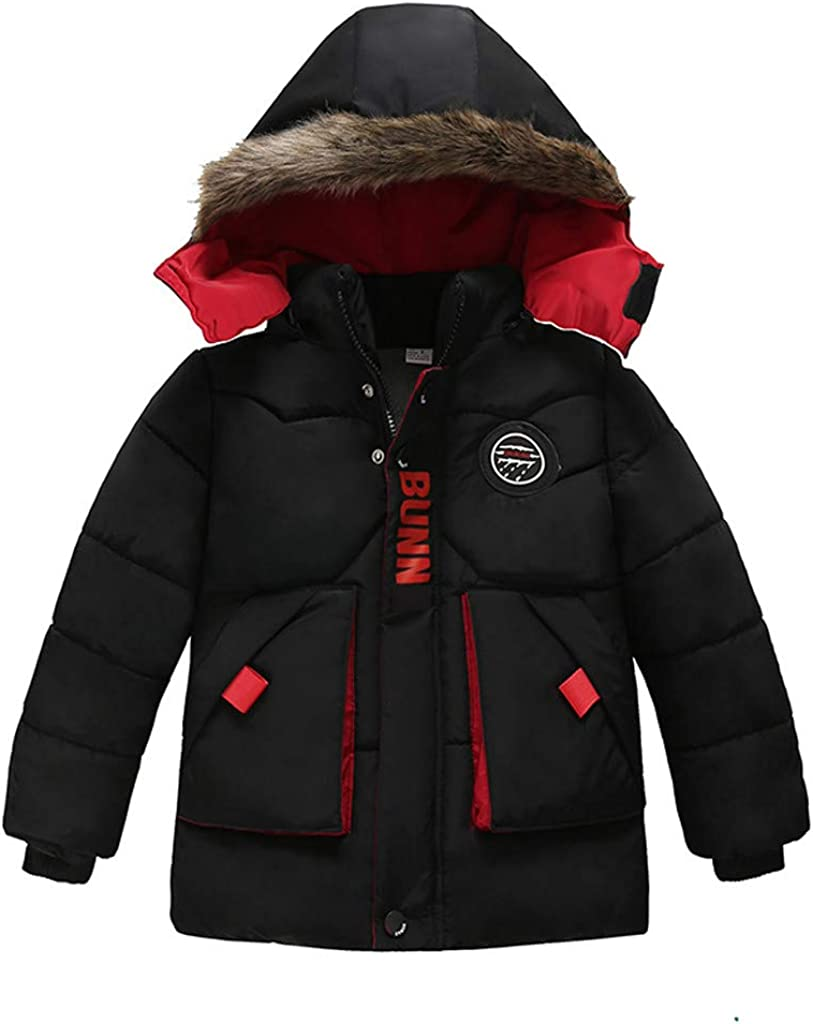 Kids Boys Baby Solid Winter San Francisco Mall Hooded Bombing free shipping Down Outwear Padd Coat Jacket