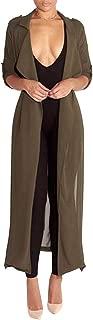 Women's Long Sleeve Chiffon Light Weight Maxi Sheer Duster Cardigans Summer Spring Coat