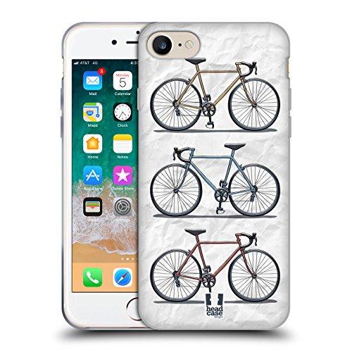 Head Case Designs Stmpato Veloce Biciclette Retro Cover in Morbido Gel e Sfondo di Design Abbinato Compatibile con Apple iPhone 7 / iPhone 8 / iPhone SE 2020