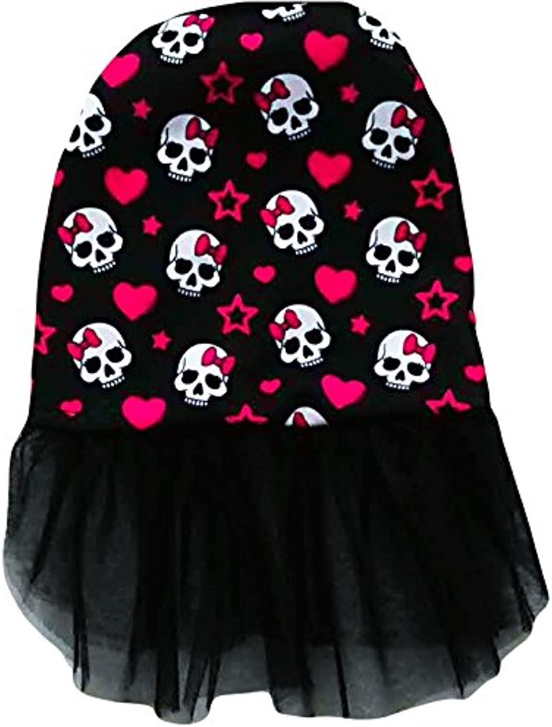 Ollypet Halloween Dog Costume Dress Skull Print Skeleton Clothes for Small Dogs Cat Puppy Apparel Black XL
