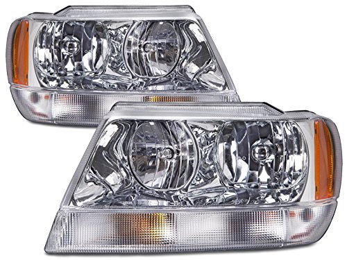 Headlights Headlamps for 99-04 Grand Cherokee Limited Left Right Set
