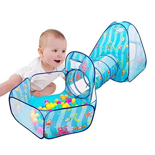winnerruby Tienda de campaña para niños y túnel, Robusta Tienda de Juegos Pop up para niños, niñas, bebés, para Interiores y Exteriores, fantástico Regalo