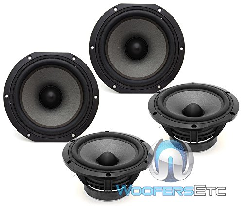 Best Review Of 4 pcs. Focal 5V3253 Home Car Audio 5.25 Midrange Speakers