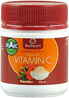 Lifestream Natural Vitamin C Antioxidant Powder Certified Organic Acerola Berry Extract 60 gm