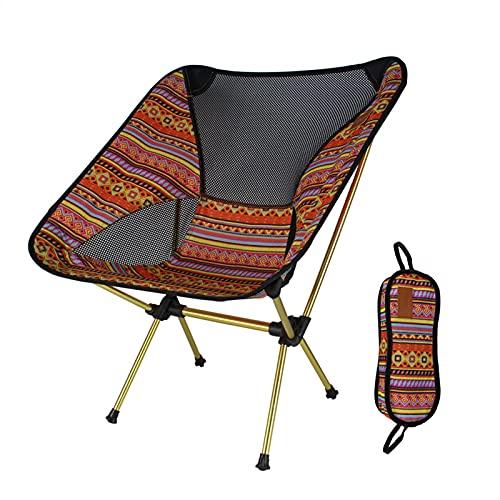 Camping Stuhl Mini Klappstuhl Ultraleichter Tragbar Anglerstuhl mit Aufbewahrungstasche,Outdoor Schnelle Demontage Kleiner Faltstuhl,Max Belastung Beträgt 120kg
