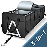 Knodel Sturdy Car Trunk Organizer with Premium Insulation Cooler Bag, Heavy Duty Collapsible Trunk...