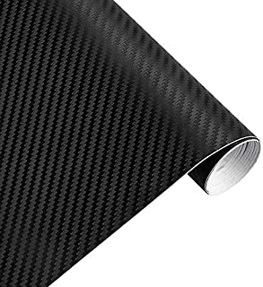 30cmx127cm 3D Carbon Fiber Vinyl Car Wrap Sheet Roll Film Car stickers and Decals Motorcycle Car Styling Accessories Autom...