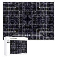 INOV アユミバドゥニューヨークスタイル ジグソーパズル 木製パズル 500ピース キッズ 学習 認知 玩具 大人 ブレインティー 知育 puzzle (38 x 52 cm)