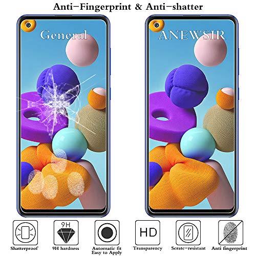 ANEWSIR 3 Stück Schutzfolie Kompatibel mit Samsung Galaxy A21s Displayschutzfolie, Ultra-klar Displayschutz, Anti Bläschen, Display Schutzfolie Folie Kompatibel mit Samsung Galaxy A21s.