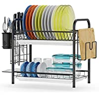 GSlife Stainless Steel 2 Tier Dish Rack with Tray