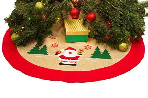 Imperial Home Rustic Burlap Christmas Tree Skirt - 36' Country Xmas Tree...