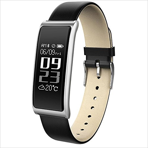 XHZNDZ Fitness Tracker Smart Bracelet Body Health Blood Pressure Heart Rate Monitor Waterproof Sports Touch Screen Activity Smart Watch (Color : Silver)