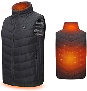 LUSSTTE Q Heated Vest, USB Battery Electric Charging Heated Warm Vest Coat for Men or Women(Battery Not Included) Black
