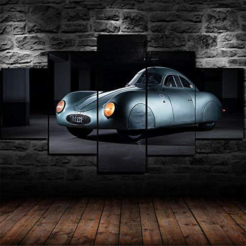 QMCVCDD Impresiones sobre Lienzo 5 Piezas,Modular Decoración De Pared Póster,5 Piezas Cuadro Regalo Creativo Póster 1939 Type 64 First Car Decor Moderna Habitación Hogar