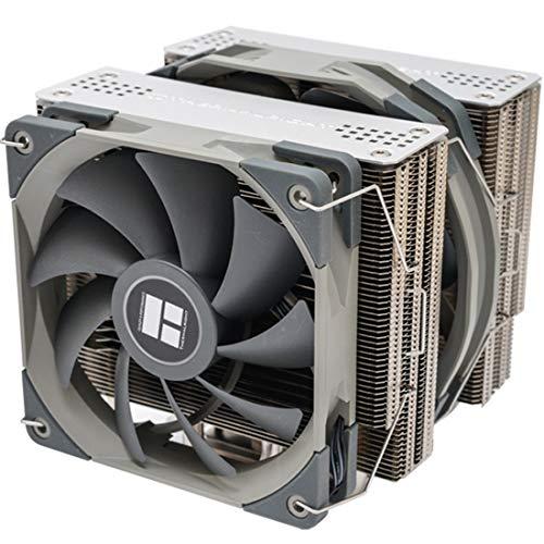 Thermalright FS140 Disipador CPU con 4 Tubos de Calor, Ventilador PWM de 120mm+140mm, Enfriador de CPU Intel AMD AM4