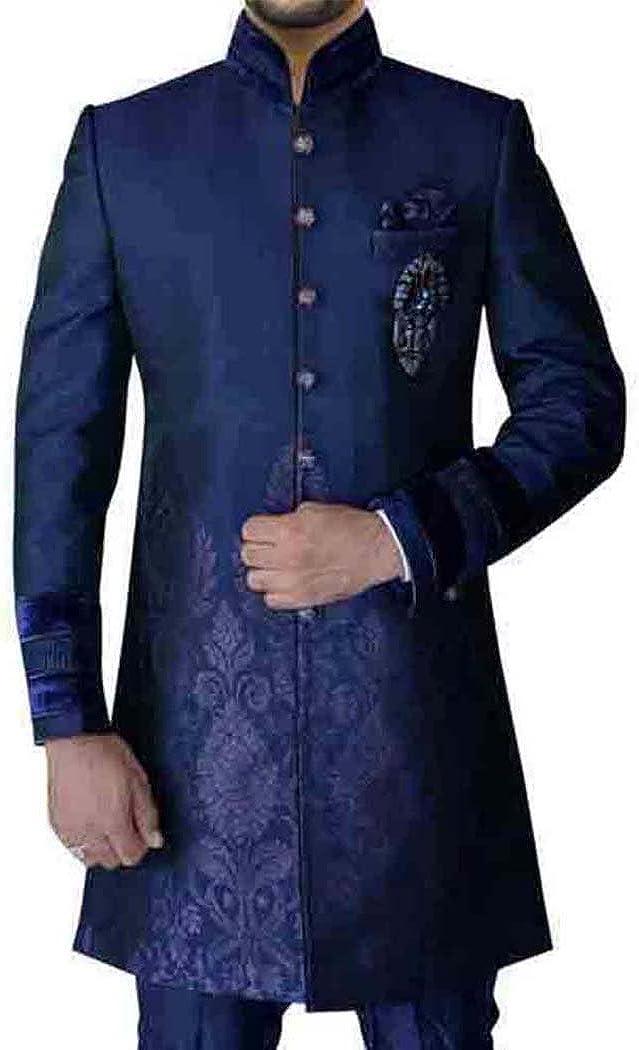 Indowestern Partywear Groom Groomsmen Bridal Many Colors Available Premium Luxury Men/'s Indian Wedding Kurta Custom Indian Suit Sherwani