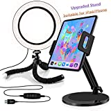 Selfie Light Ring,Dimmable LED Camera Light,Portable Photography Light Compatible with iPhone, iPad, Sumsung Galaxy, Phone,Laptop (White,1-Pack)